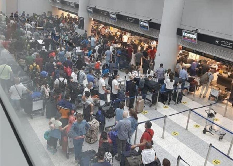 صور زحمة المطار… اللبنانيون يهاجرون قبل الاقفال العام!
